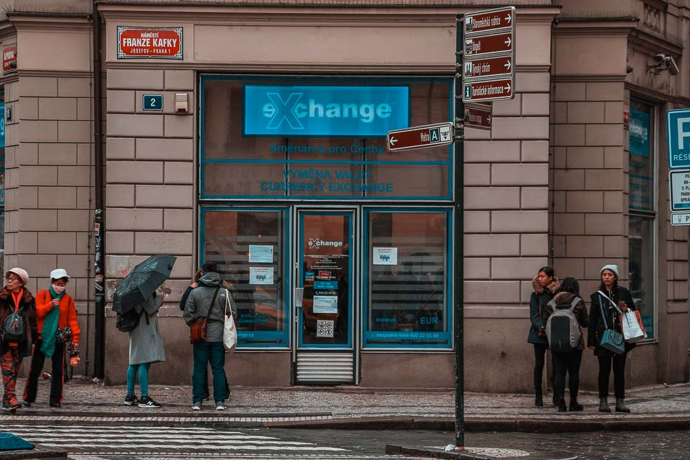 Beste Wechselstube in Prag: eXchange in der Franze Kafky Straße