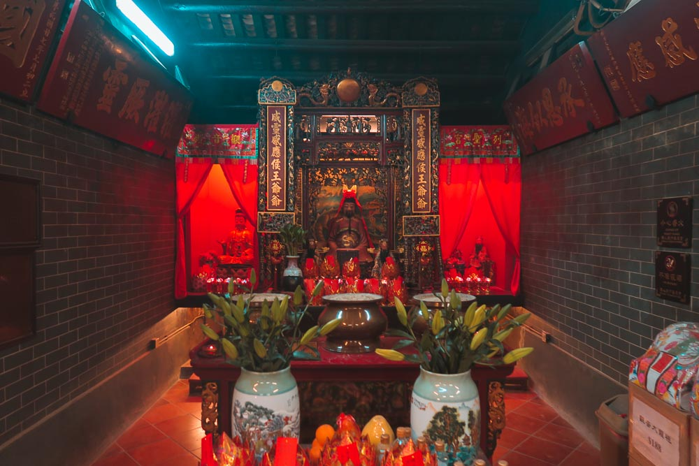 Innere des Hau Wong Temple in Kowloon, Hong Kong