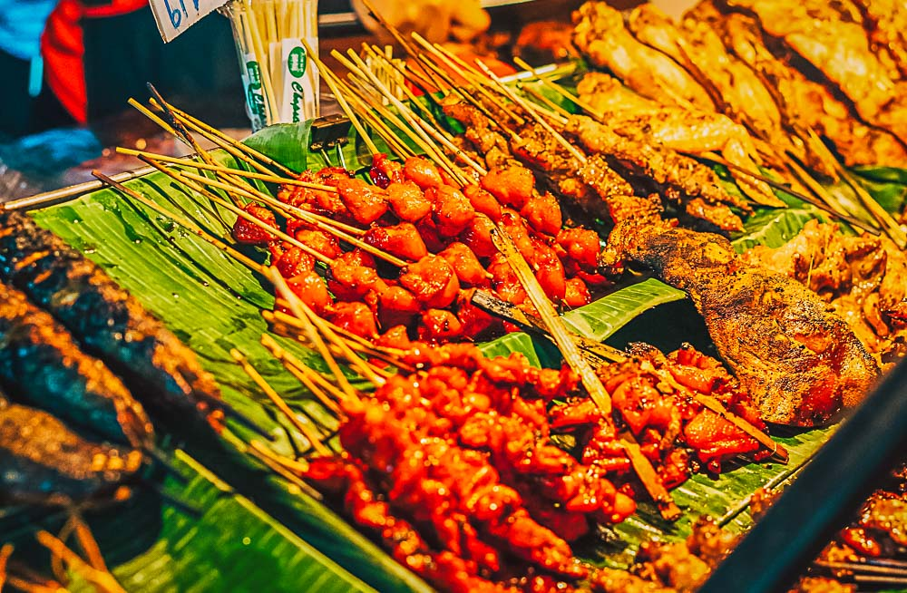 Thai Street Food in Thailand in einem Markt