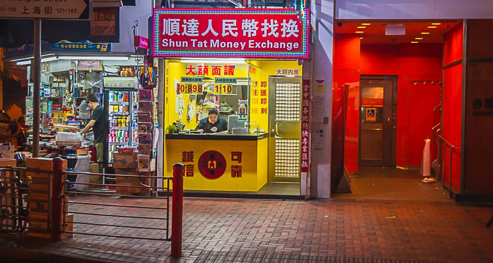 Money Exchange in Hong Kong