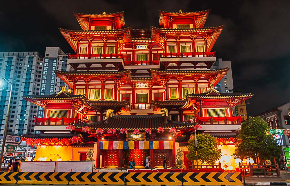 Buddah Tooth Relic Temple in Singapur