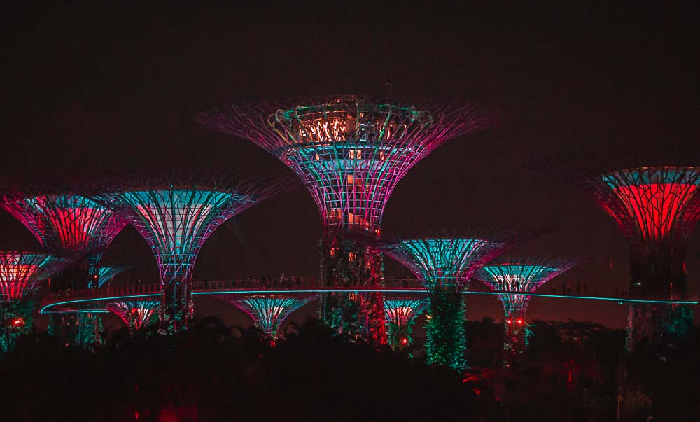 Supertrees im Garden by the Bay Park in Singapur