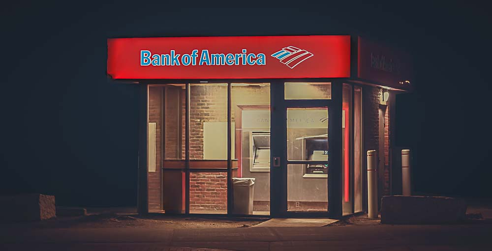 Filiale der Bank of America in den USA