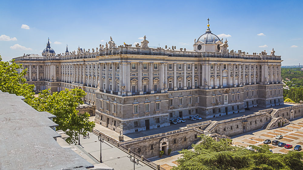 Palacio Real in Madrid in Spanien