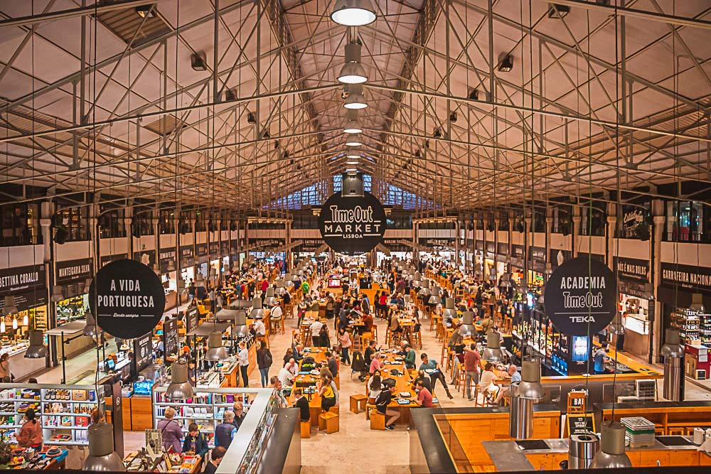 Time out Food Market in Lissabon, Portugal