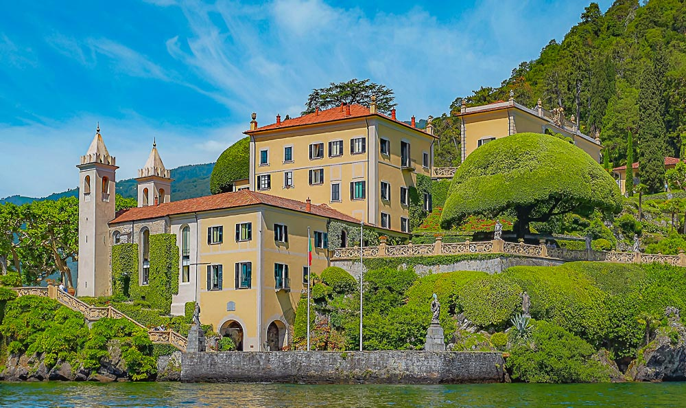 Villa Balbianello am Comersee in Italien