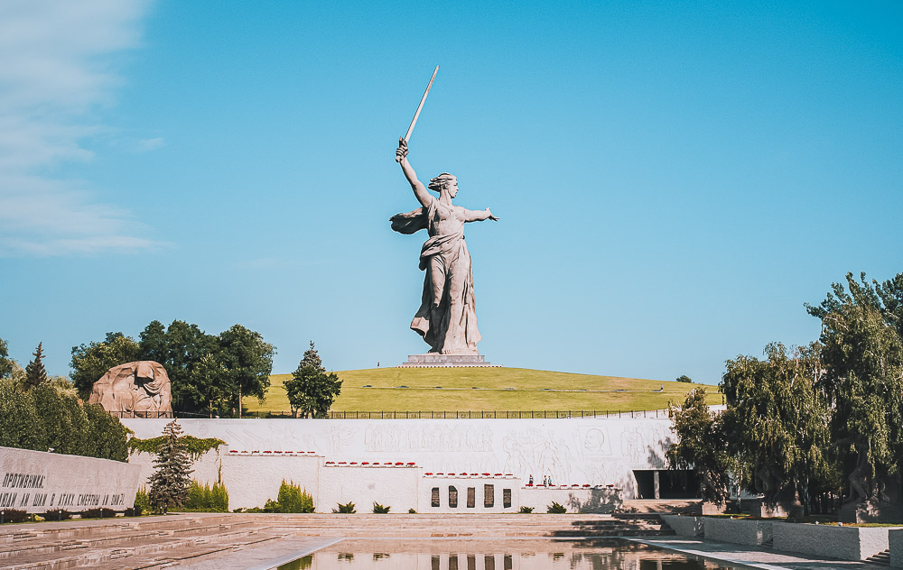 Mutter Heimat Statue in Volgograd in Russland