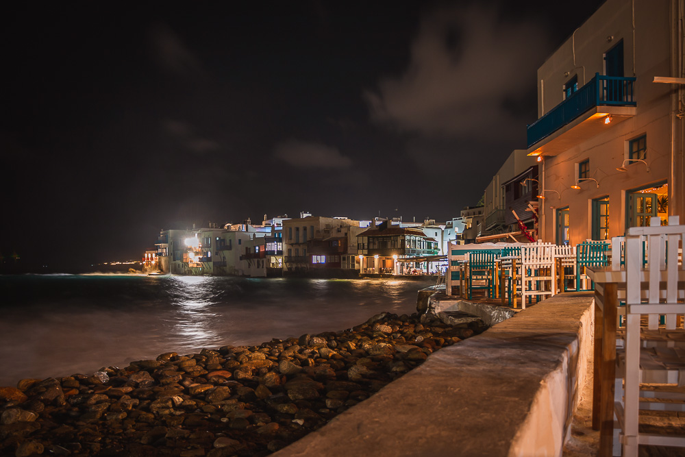 Nightlife in Mykonos in Griechenland