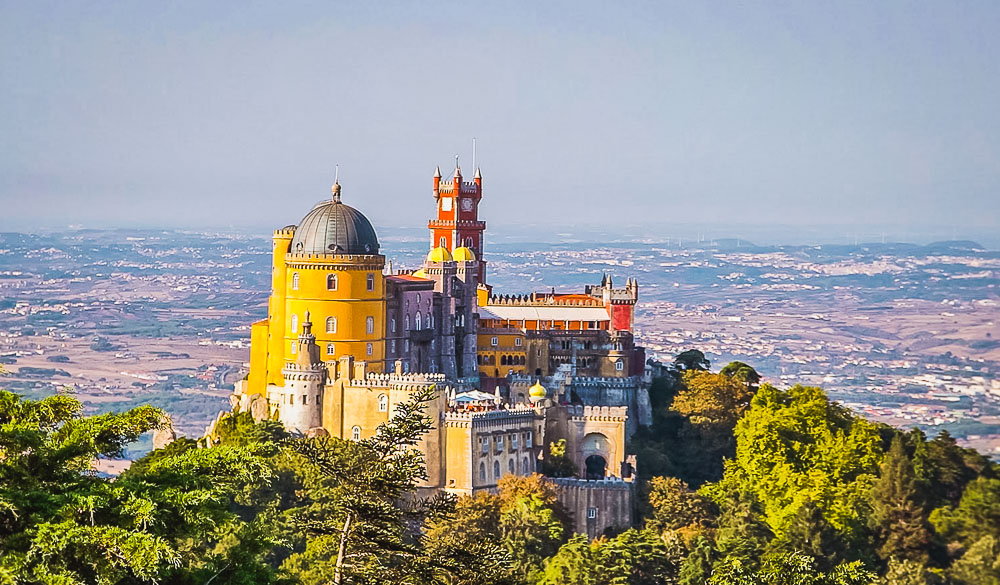 Pena Palace in Sintra in Portugal
