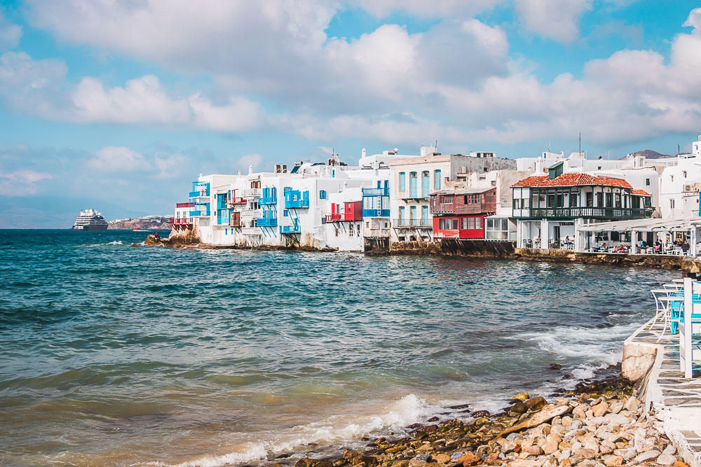 Little Venice in Mykonos in Griechenland