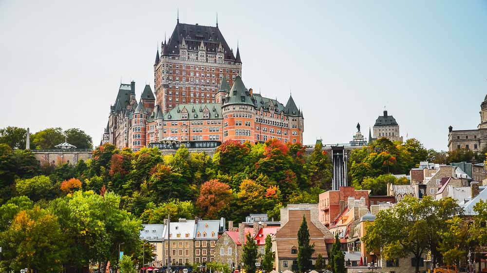 Chateau Frontenac in Quebec in Kanada
