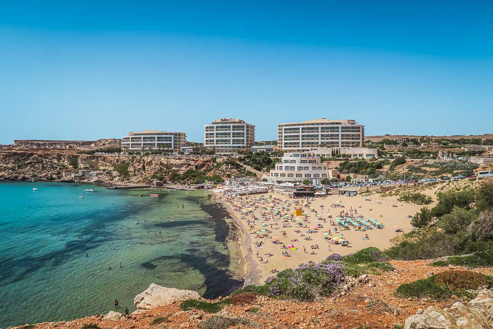 Golden Bay in Malta
