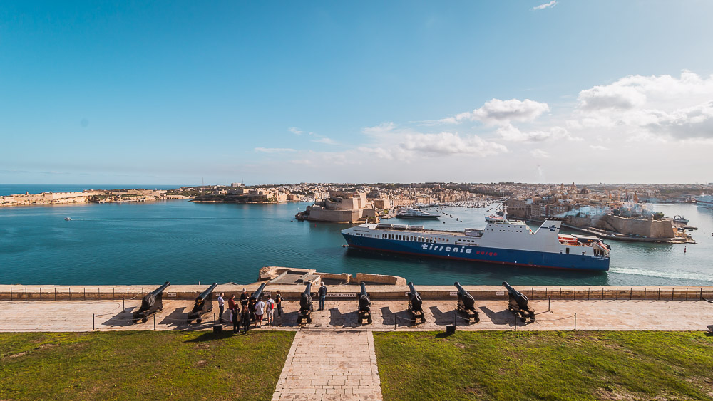 Grand Harbour in Valletta in Malta