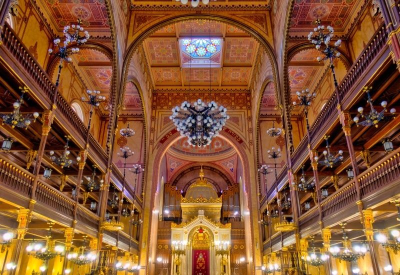 Dohany Synagoge in Budapest in Ungarn