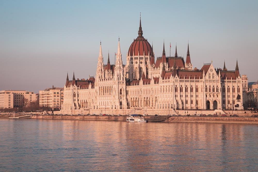 Parlamentspalast in Budapest in Ungarn